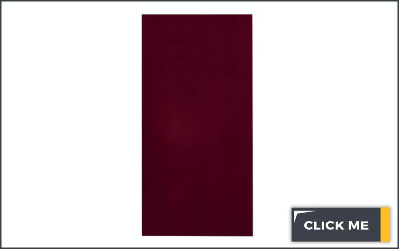 dark red dog training mat on white background
